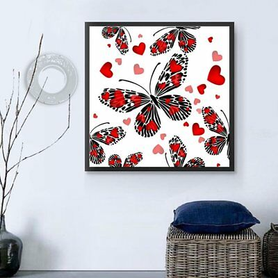 Butterflies And Heart Pattern 35*35cm Diamond Embroidery Paint By Number KitsÇ