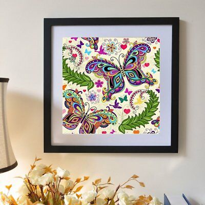 Colorful Butterflies And Plants Pattern Diamond Embroidery 35*35cm Wall DecorÇ