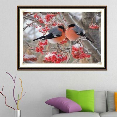 DIY Cross Stitch Diamond Painting Red Bird Embroidery Picture Home DecorationÇ