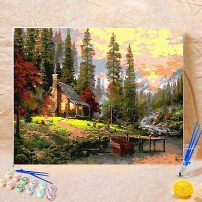 DIY Frameless Oil Painting By Numbers Scenery Wall Art Canvas PicturesÇ