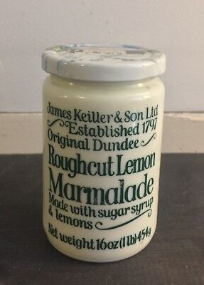 Vtg Milk Custard Glass Jar Pot Crock Keiller & Sons Marmalade FREE US SHIP