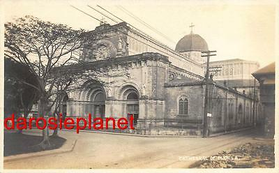 c1910 PHILIPPINES rppc CATHEDRAL OF MANILA Religious Architecture P.I