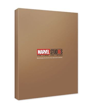 Marvel Studios Ten Years Anniversary Gold Posters Collection Limited Edition NEW