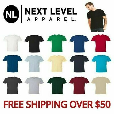 Next Level Apparel Men's Premium Crew Neck T-Shirt 3600 Basic Tee 20 colors