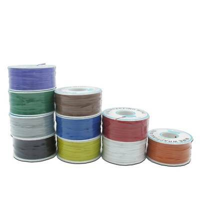 250M/Roll Electrical Wire Wrapping Wire Wrap 10 Colors Copper OK Wire PCB Wire