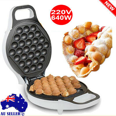 220V 640W Nonstick Electric Egg Maker Oven Waffle Eggettes Baker Machine Tools A