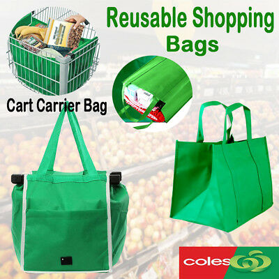 Bulk Reusable Foldable Shopping Trolley Bags Cart Carrier Tote Woolworths Coles