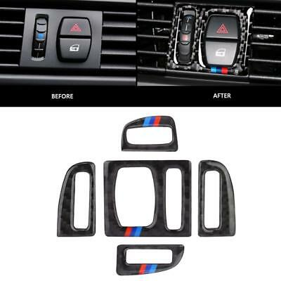 Real Carbon Fiber Interior Air Conditioning Vent Outlet Trim for BMW F10 11-17