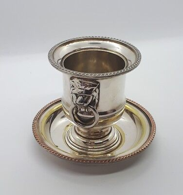 Vintage Viners of Sheffield  Silver Plated Toothpick Cigarette Urn Lion Head