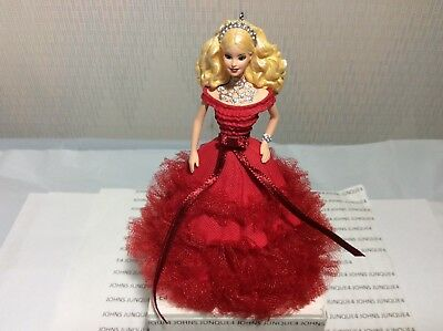 Holiday Barbie Ornament Hallmark 2018 Series #4 New In Box Red Dress Ships Now!