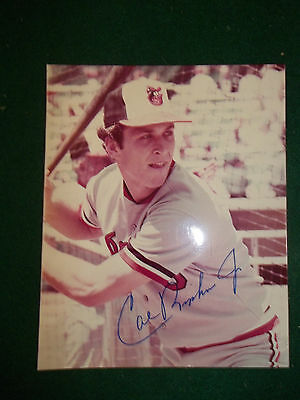 Autographed Photo of Cal Ripkin, Baltimore Orioles Star, Color, 8 X 10