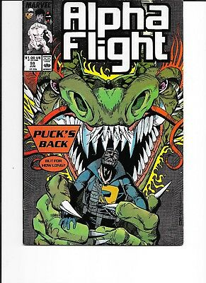 Marvel Alpha Flight1988 no 59 & 1993 No 120