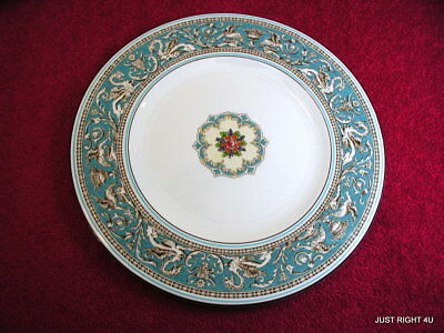 """Wedgwood (Florentine Turquoise) 10 7/8"""" DINNER PLATE(s) GUC (3 left)"""