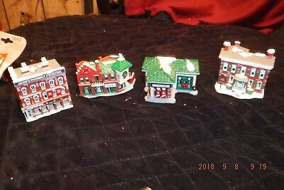 "Coca Cola ""Town Square"" Village ornaments /figurines.1991"