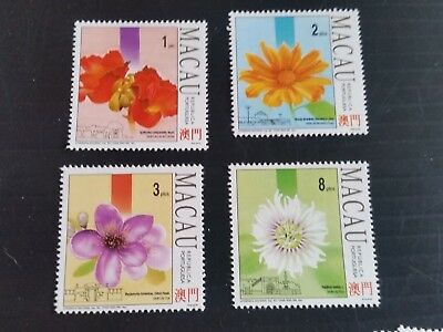 Macao 1993 Sg 815-818 Flowers And Gardens (2Nd Series)  Mnh (M)