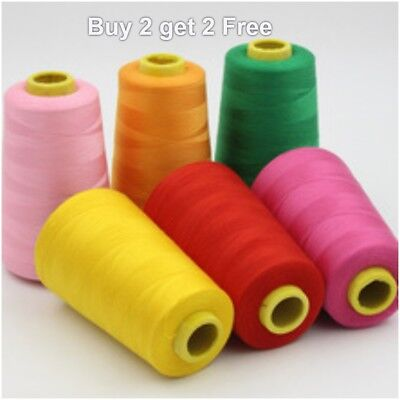 Low Price Overlocking Sewing Machine Industrial Polyester Thread 5000 Yrd Cones