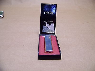 Vintage Bravo Gold Tone Brass Art Deco Lighter grey paint decor Made In Korea