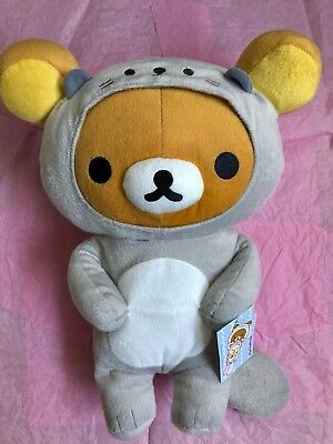 "NEW ♡ San-X Rilakkuma Grey Sea Otter 16"" Round 1 Plush New with Tags"