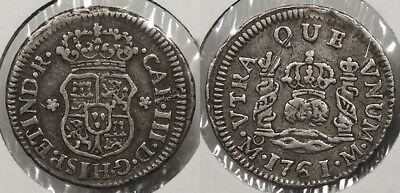 MEXICO: Spanish Colonial 1761-Mo 1/2 Real Charles III #WC75668