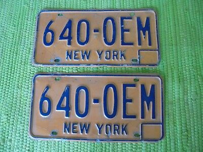 73-86 New York License Plate Matched Pair NY Tag 460-OEM Plates Original Equipmt