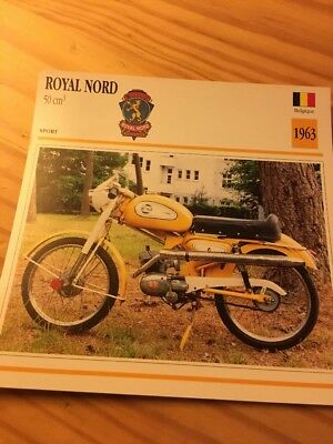 Royal Nord 50 cm3 1963 Carte moto Collection Atlas Belgique