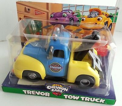 Chevron Cars Trevor Tow Truck  2001 Gas & Oil Roadside New Old Stock Toy
