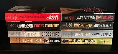 James Patterson Lot of 8 PB books Alex Cross Country Fire Mistress Private ++++