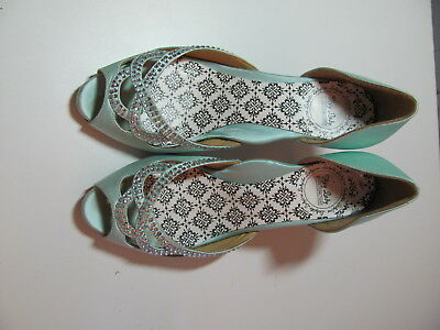 Hey Lady Ultra Comfortable Wedding Shoes Knotty Girl Blue Heels w/Box $280 Sz 6