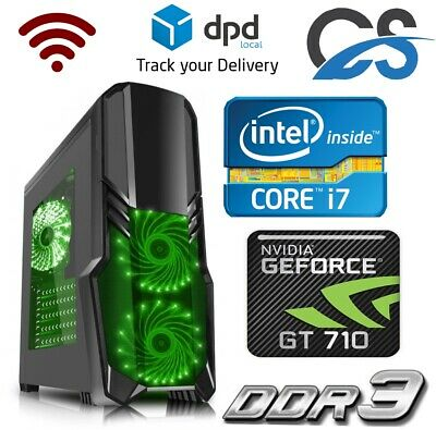 Ultraschneller Gaming Computer Pc Intel Core i7 2600 8GB 1TB Gt 710 2GB Windows