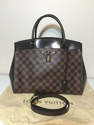 0fad8316b93 AUTHENTIC Louis Vuitton Damier Ebene Rivoli MM Shoulder Bag Crossbody