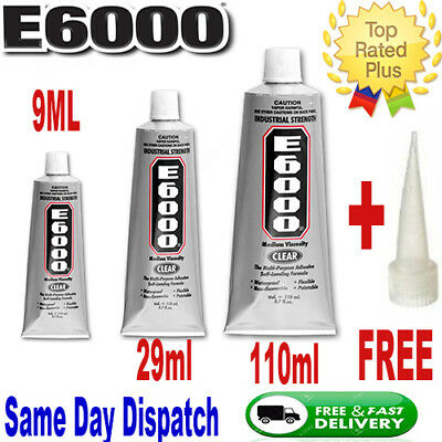 E6000 Glue 9Ml / 29Ml / 110M Jewelry Phone Cases~Crystal ✔ Shoes Glue Super Glue