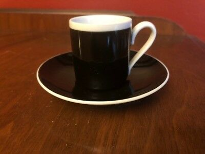 Vintage Braniff International Airlines Flight Espresso Demi Coffee Cup & Saucer