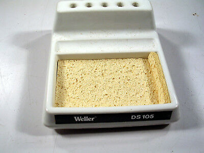 Vintage Weller Ds105 Sponge Holder And Clean Out Tool Porcelian Very Nice