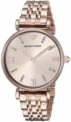 New Emporio Armani Ar11059 Ladies Rose Watch - 2 Years Warranty - Certificate