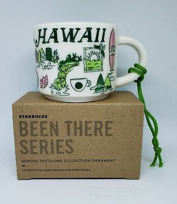 "Starbucks ""Been There Series""  2018 Hawaii Ornament Demi 2 oz. - Brand New!"