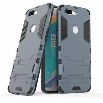 For Oneplus 5 5T case Luxury Shockproof Hybrid Armor Stand Holder Rubber Back Co