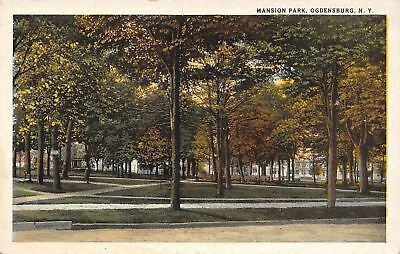 Ogdensburg New York~Homes Behind Mid-Autumn Trees~Mansion Park~1920s