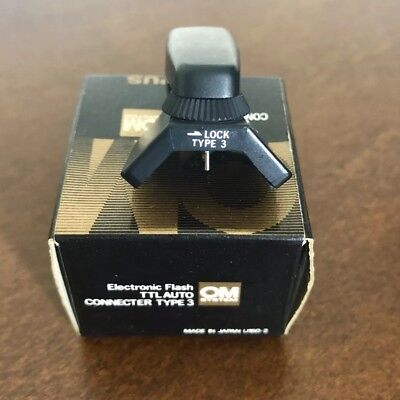 Olympus Flash Connector Type 3 Electronic Flash TTL Auto New with Instructions