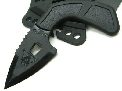Ka-bar 9908 Black Epoxy TDI Shark Bite Straight Fixed Blade Knife + Sheath