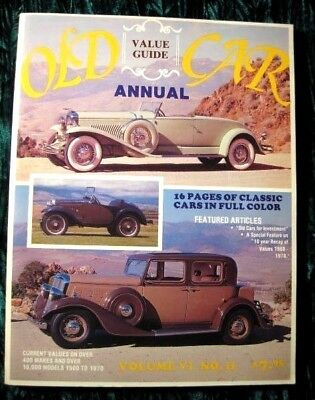 1979 Old Car Value Guide Annual Car Price Guide Over 400 Makes Vintage Book