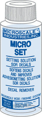 Microscale MI-1 Micro Set Decal Setting/Removing Solution - 1oz Bottle