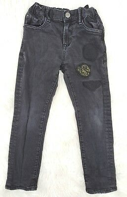 GAP Kids Little Boys Size 6 Regular Slim Skinny Jeans Solid Black With Patches
