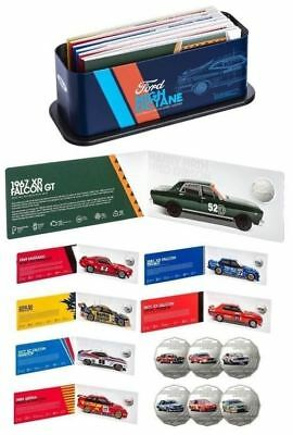 2018 SET OF 7 50c UNCIRC COINS FORD MOTORSPORT TIN COLLECTION *RAM SOLD OUT*
