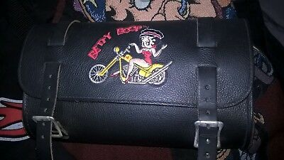 Betty Boop Leather Motorbike Saddlebag Type Bag .  Never Used Only Display