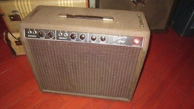 FENDER BROWNFACE DELUXE 1961-1963 AMPLIFIER COMBO BROWN VINYL AMP COVER fend084