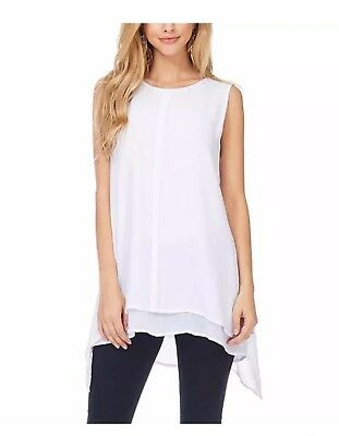 New!! Fever Ladies Double Layer Tank White/Small (AE030)