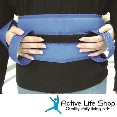 TRANSFER BELT Adjustable Non Slip Grip Waist Strap Mobility Assist Caregiver
