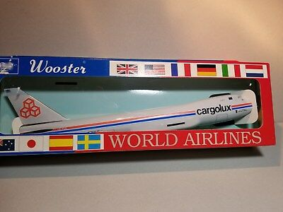 Wooster Model (W425) Cargolux 747-400 1:250 Scale Plastic Snapfit Model