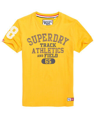New Mens Superdry Trackster T-Shirt Upstate Gold