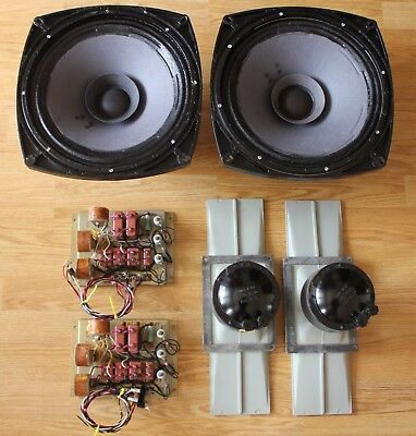 Set of soviet LOMO Kinap Speakers 4A-32, drivers 1A-20 and filters. AlNiCo